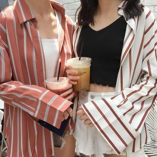 Striped Long Shirt 1061486510