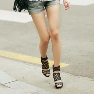 Buy Koo Ankle Length Punched Sandals 1022842259