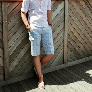 Buy G-NARU Check Shorts 1023026984