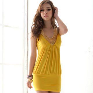 Buy Joanne Kitten Sequined V-Neck Party Dress 1022740432