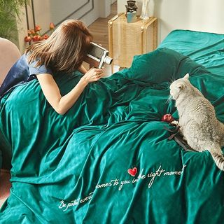 Embroider | Bedding | Heart | Bed | Set