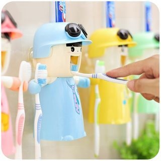 Toothpaste Dispenser with Toothbrush Holder 1060112806