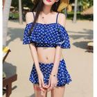 Couple Matching Patterned Swim Shorts / Set: Patterned Swim Top + Swim Skirt 1596