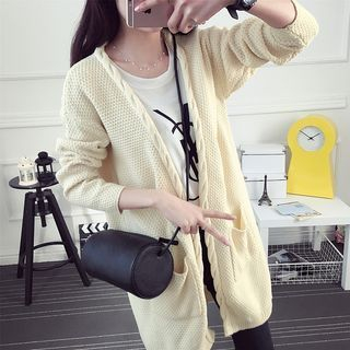 Ribbed Long Cardigan 1050400608