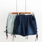 Lace Up Denim Shorts 1596