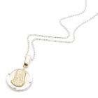 18K White  Yellow Gold Religious Medal от YesStyle.com INT