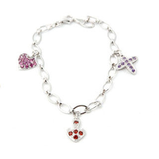 Image For Faith, Hope, Love Bracelet