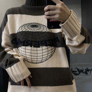 Couple Matching Striped Sweater