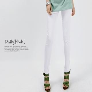 Buy Daily Pink Elasticized Waist Skinny Pants 1022866705