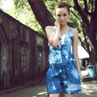 Buy Binman Dyed Denim Jumpsuit 1023047599