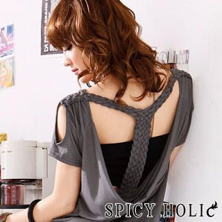 Buy SPICY HOLIC Open Back Drape Front Minidress 1022688679