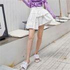 Asymmetric Tiered Skirt 1596
