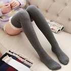 Lace-Trim Knit Knee Socks 1596