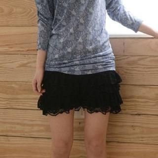 Buy Cherry Story Lace-Layered Shorts 1022935117