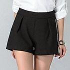 Plain Flat Front Shorts 1596