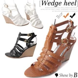Buy Shoes by B Strappy Wedge Sandals 1022792351