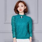 Lace Long-Sleeve Top 1596