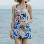 Printed Strappy Swimdress 1596