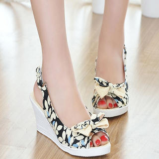 Buy KAWO Floral Slingback Wedges 1022901544