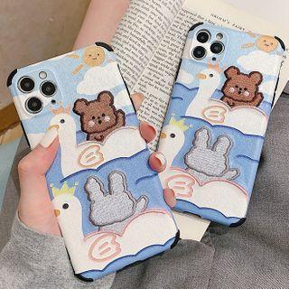Image of Animal Embossed Phone Case - iPhone 11 Pro Max / 11 Pro / 11 / SE / XS Max / XS / XR / X / 8 / 8 Plus / 7 / 7 Plus / 6s / 6s Plus