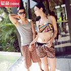 Couple Matching Set: Patterned Bikini / Swim Shorts 1596
