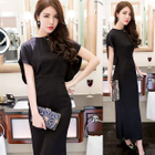 Short-Sleeve Maxi Dress 1596