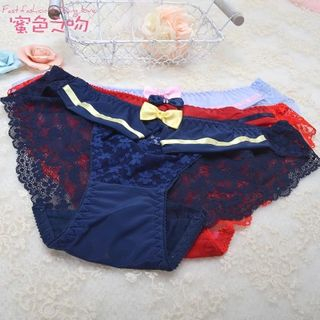 Bow-accent Lace Panties