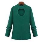 Cutout Long-Sleeve Sweater 1596