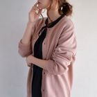 Crew-Neck Buttoned Cardigan 1596