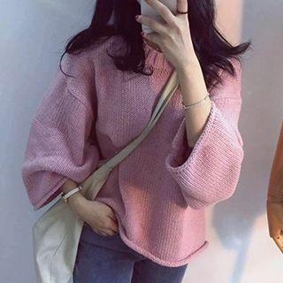 Drop-shoulder Knit Top 1052784561