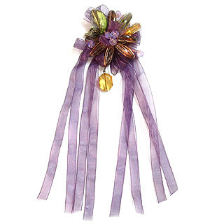 6thjune Flower Brooch Purple201