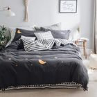 Set: Embroidered Pillow Case + Bed Sheet + Duvet Cover 1596