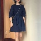 3/4 Sleeve Tie-Waist Dress 1596