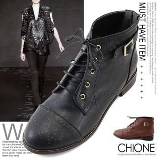 Picture of Chione Lace-Up Boots 1023068434 (Boots, Chione Shoes, Korea Shoes, Womens Shoes, Womens Boots)