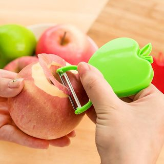 Image of Apple Stainless Steel Peeler Random Colors - One Size