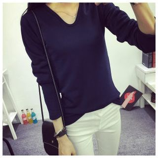 plain-fleece-lined-long-sleeve-t-shirt