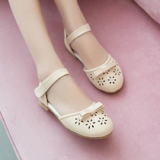 Image of Ankle Strap Perforated Flats