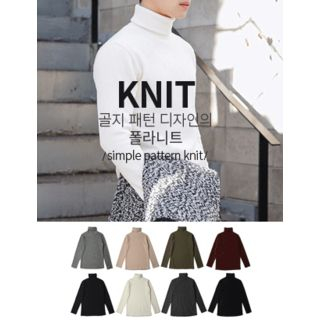 Turtle-Neck Ribbed Sweater 1057266397