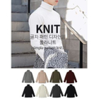 Turtle-Neck Ribbed Sweater 1596