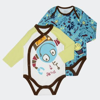 Baby Printed Bodysuit Set (Set of 2)