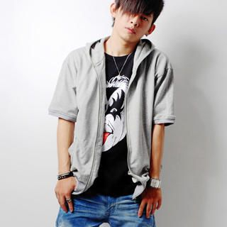 Picture of SLOWTOWN Elbow-Sleeve Hoodie 1022959111 (SLOWTOWN, Mens Tees, China, Mens Causal Tops)