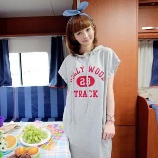 Buy CLICK Drawstring Hooded Maxi Dress 1022726230