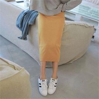 Ribbed Midi Skirt 1062581181