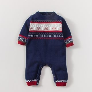 Baby Patterned Knit One-Piece 1053720169