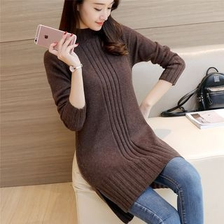 Ribbed Long Sweater 1056247072