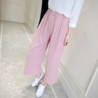 Accordion Chiffon Wide-Leg Pants 1596