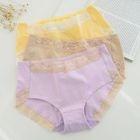 Set of 3: Lace-Trim Panties 1596
