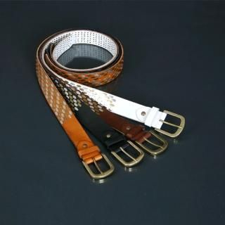 Buy ISNOM Genuine Leather Studded Belt 1022691306