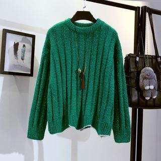 Ribbed Long-Sleeve Knit Top 1064713827