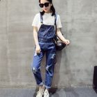 Distressed Jumper Jeans Dark Blue - M от YesStyle.com INT